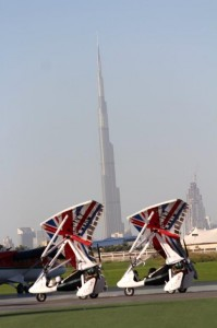 GB trikes & world's tallest building